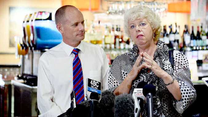 Queensland election - Premier Campbell Newman made an appearance at the Carriers Arms Hotel. Maryborough MP Anne Maddern at the press conference. Photo: Valerie Horton / Fraser Coast Chronicle