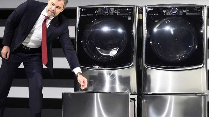 LG introduces the twin wash washing machines at this week's Consumer Electronics Show in Las Vegas