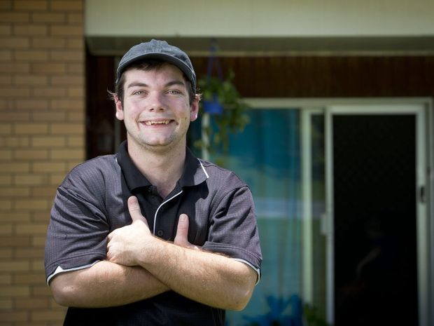 Ryan Rouvray, 18, has landed himself a long term position working at the Calliope Home Ground Cater Care.