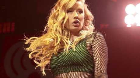 Iggy Azalea performs in concert during the Hot 99.5 Jingle Ball at the Verizon Center on Monday, Dec. 15, 2014, in Washington D.C. (Photo by Owen Sweeney/Invision/AP)