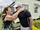 Shane Brew donated a lawn mower to Trish Brecknell who had hers stolen last month. Photo Inga Williams / The Queensland Times