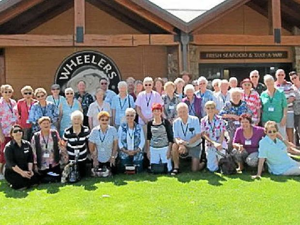 ON THE ROAD: Members of the Gympie Meals on Wheels on tour.