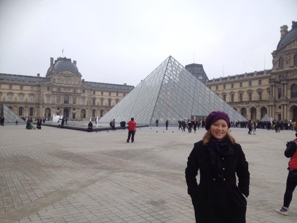 Trinity College, Gladstone teacher Brenda Courtice at the Louvre in Paris, on the day masked gunmen killed at least 12 people at a French satirical magazine a few blocks away.