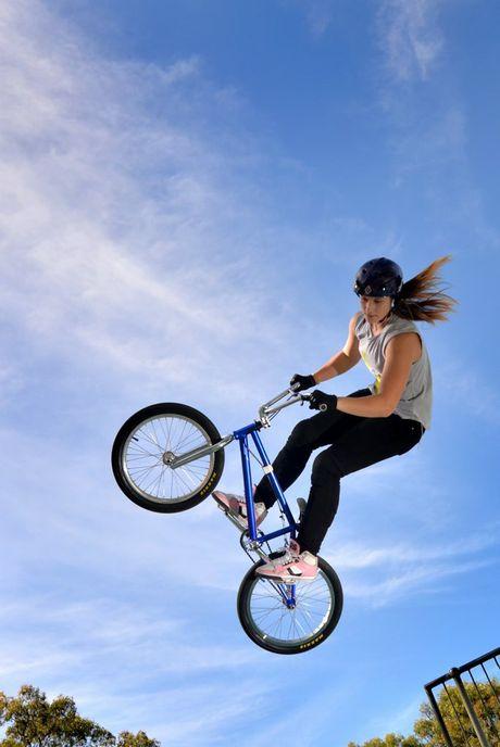 BMX freestyle rider Natalya Diehm.