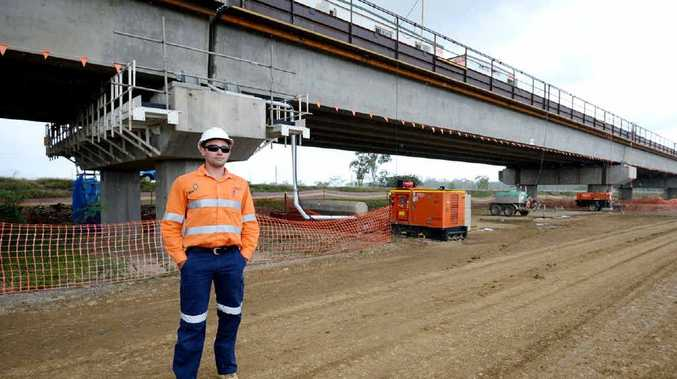 SMOOTH CONSTRUCTION: Project engineer Scott Muller inspects the Yeppen South project on the Bruce Highway.