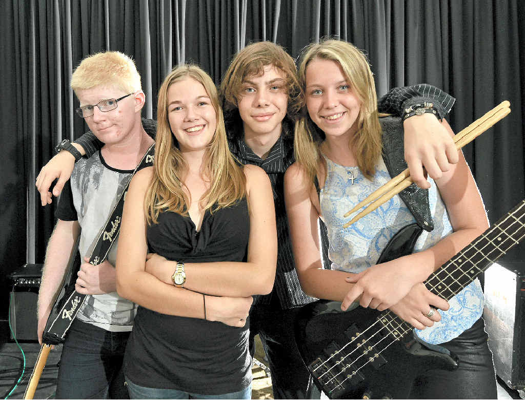 LET'S JAM: AICM band Cloud 9 will leave a mark in Tamworth. Members Dan Day (head guitar), Beth Wight (lead vocals and keyboards), Lacey Smith-Cripps (bass) and Codey Smith-Cripps (drums).