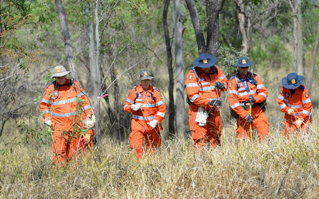 SES search for clues in the Martinez-Barnett investigation.