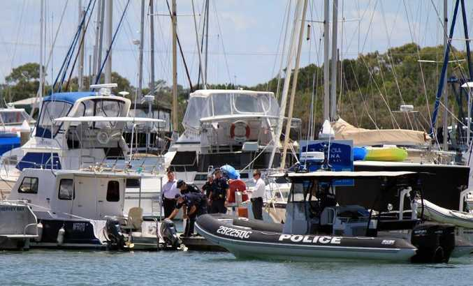 Police brought the boat back to the marina about noon on Sunday.