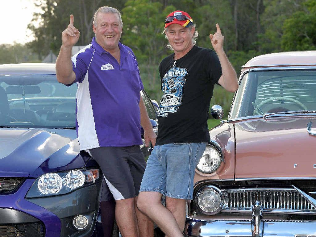FORD FANS: Bibi Edgerton (left) and Kym Gentle look forward to displaying their beloved marque at the Aussie Ford Day at The Leap Hotel next Saturday.