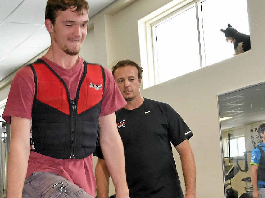 STEPPING UP TO THE CHALLENGE: Sapphire teen William Nuss gets into training before tackling Mount Everest Base Camp in April.
