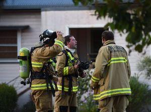 Crash, house fire keep crews busy