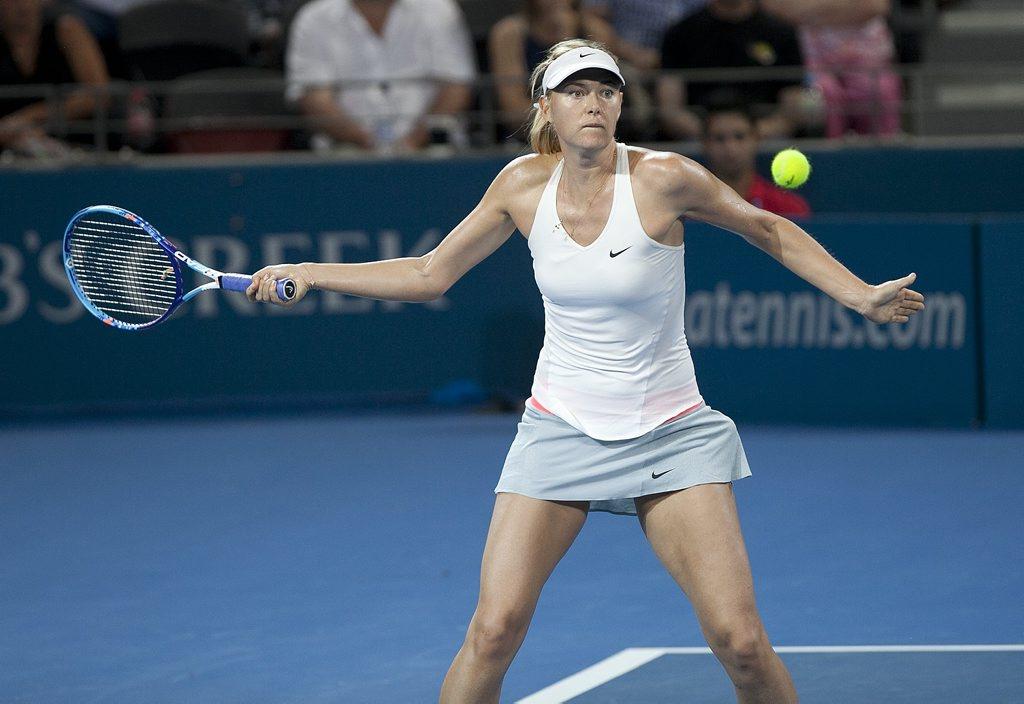 Image for sale: Brisbane International Tennis - Tuesday, 6 January 2015. Maria Sharapova playing against qualifer Yaroslava Shvedova. Pat Rafter Arena, Brisbane. Photo: Franca Tigani / The Queensland Times IPS060115BRIS10I.