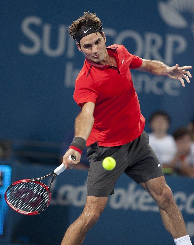 Aussie Ben Mitchell could play Roger Federer if he wins his first-round match at Brisbane International.