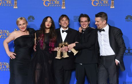 The cast and director Richard Linklater of