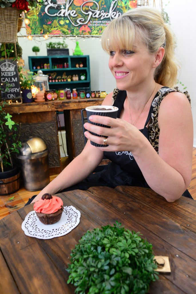 CAKE GARDEN: Amber Collins is the owner of new market caf , the Cake Garden. Photo taken on Monday, 12 January 2015. Photo: Max Fleet / NewsMail