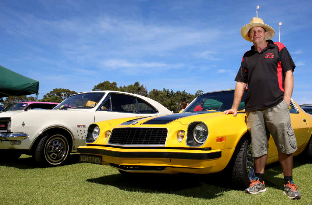 CROWD FAVOURITE: Noel Eastment with his Chevy Camaro at the North Coast Street Machines Twilight Show in Ballina.