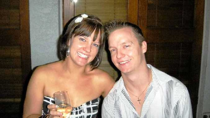 OTHER TIMES: Shari and Shaun Marshall celebrating happier times at the Grand Hotel, Gladstone, the same venue where a fundraiser in Shaun's memory will be held on January 31.