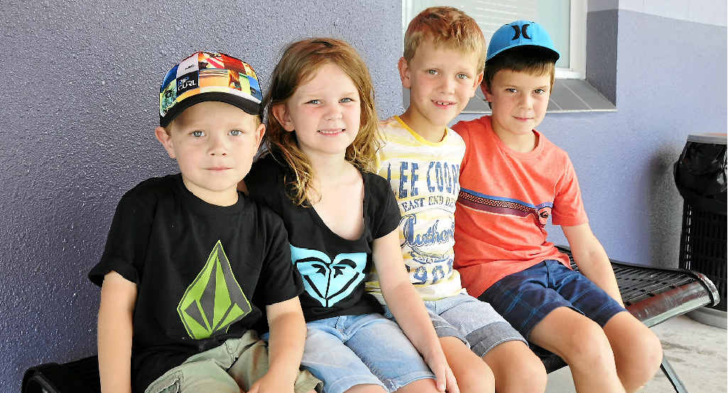 TOUGHER TIMES: The McFarlane Family will be missing out when the SchoolKids Bonus is scrapped in 2016. The McFarlane children are (from left) Levi, Mackenzie, Jordan and Jackson.