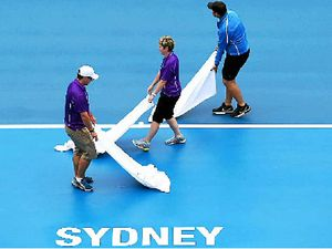 Rain ruins first day on court in Sydney