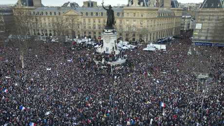 Up to three million people are thought to have attended the Parisian march
