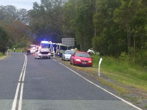 Woman airlifted after car hits tree south of Gympie