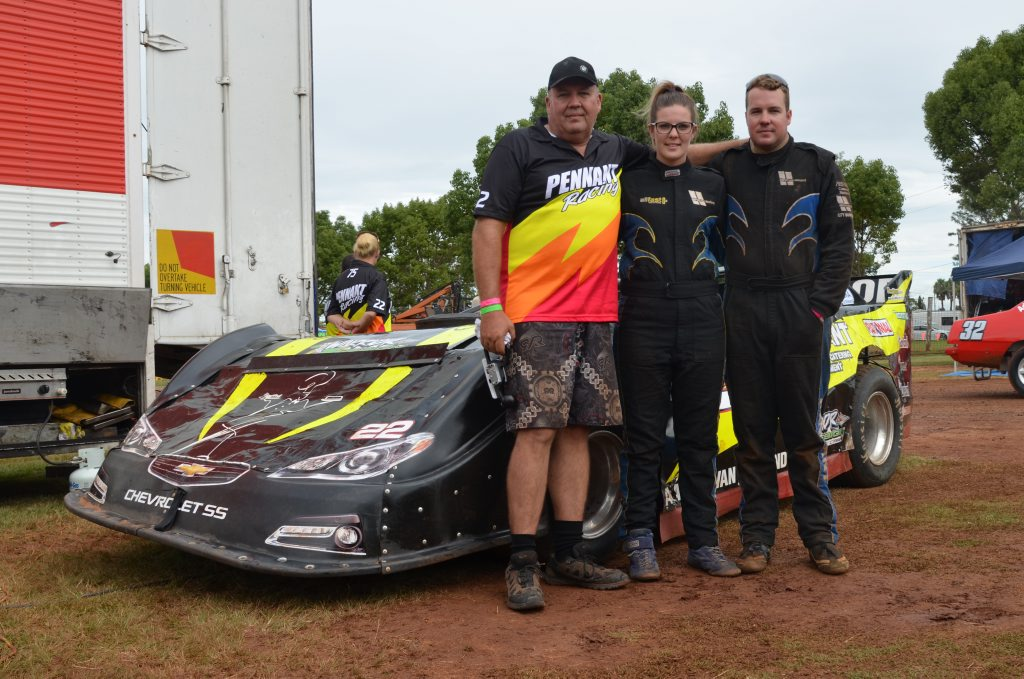 READY TO RACE: Speedway is in the family for Steve, Aaron and Kirsten van Zeeland Photo Barclay White / South Burnett Times