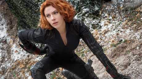 Scarlett Johansson in a scene from the movie Avengers: Age of Ultron. Supplied by Disney.