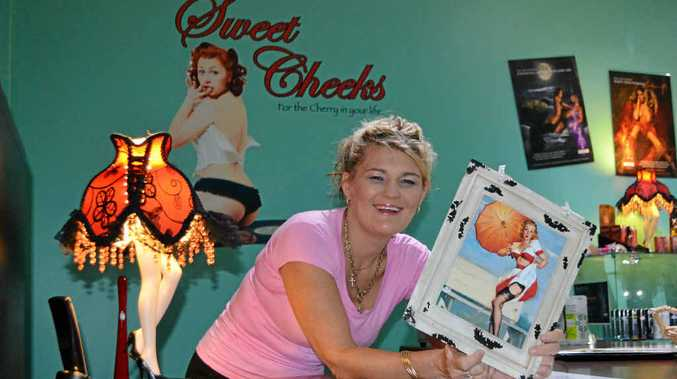Sweet Cheeks owner Corrin Whitaker is proud to open her new adult shop business on George St. She has worked in the industry for about three years and describes her job as helping people.