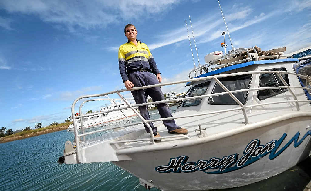 ADJUSTING: Owner and operator of AB Marine Services Adam Balkin has built a marine empire off the LNG boom in Gladstone.