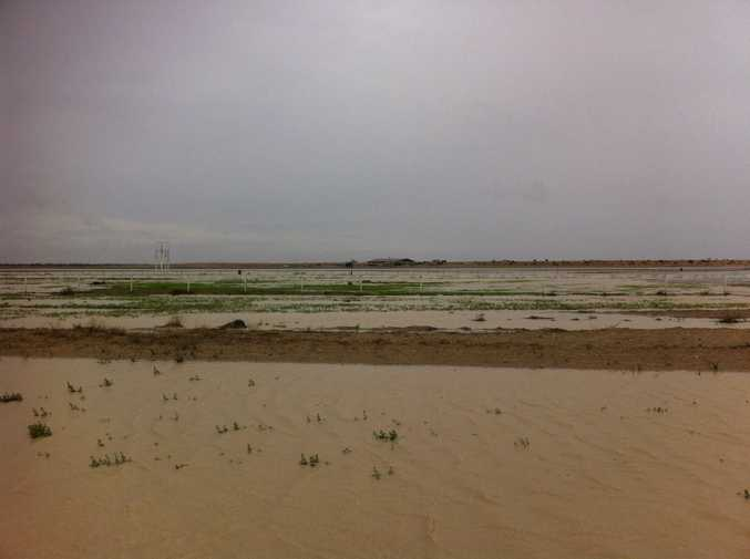 Water at Birdsville race track.