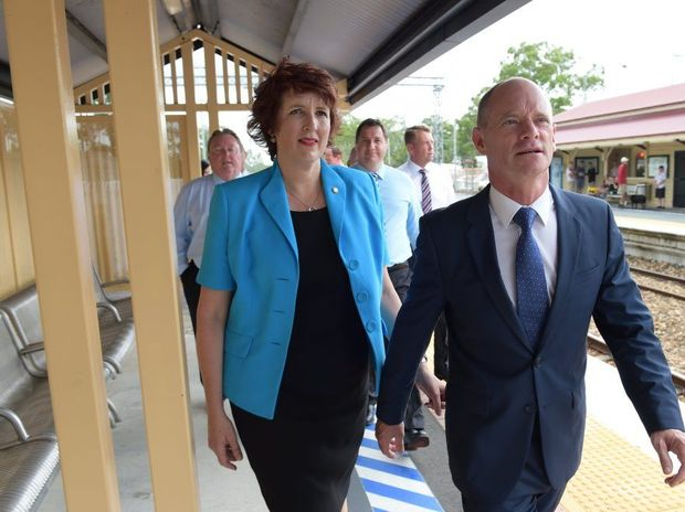 Premier Campbell Newman with Maroochydore MP Fiona Simpson