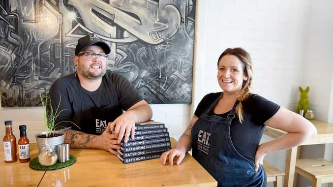 Expectant couple Dan and Steph Mulheron are working on their second cookbook, opening a classroom-themed espresso bar and have a TV show on the drawing boards.