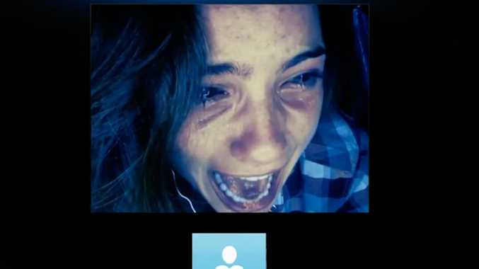 A scene from the first trailer of Unfriended.