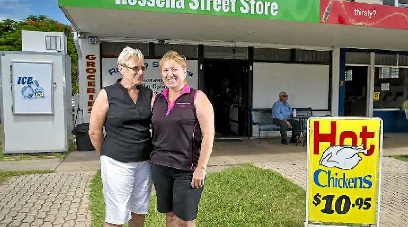 MOVING ON: Bev Merrett and her daughter Carmel Ward outside the store, which is up for sale.