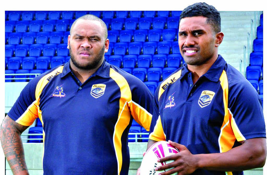 PLENTY TO PROVE: New Falcons Kem Seru and Joe Uluibau are intent on delivering the goods on the Sunshine Coast.