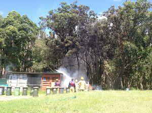 Caravan fire at Byron Bay