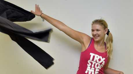 18-year-old Melissa Houterman lost 52 kg and is now beginning her career as a model. Photo Inga Williams / The Queensland Times