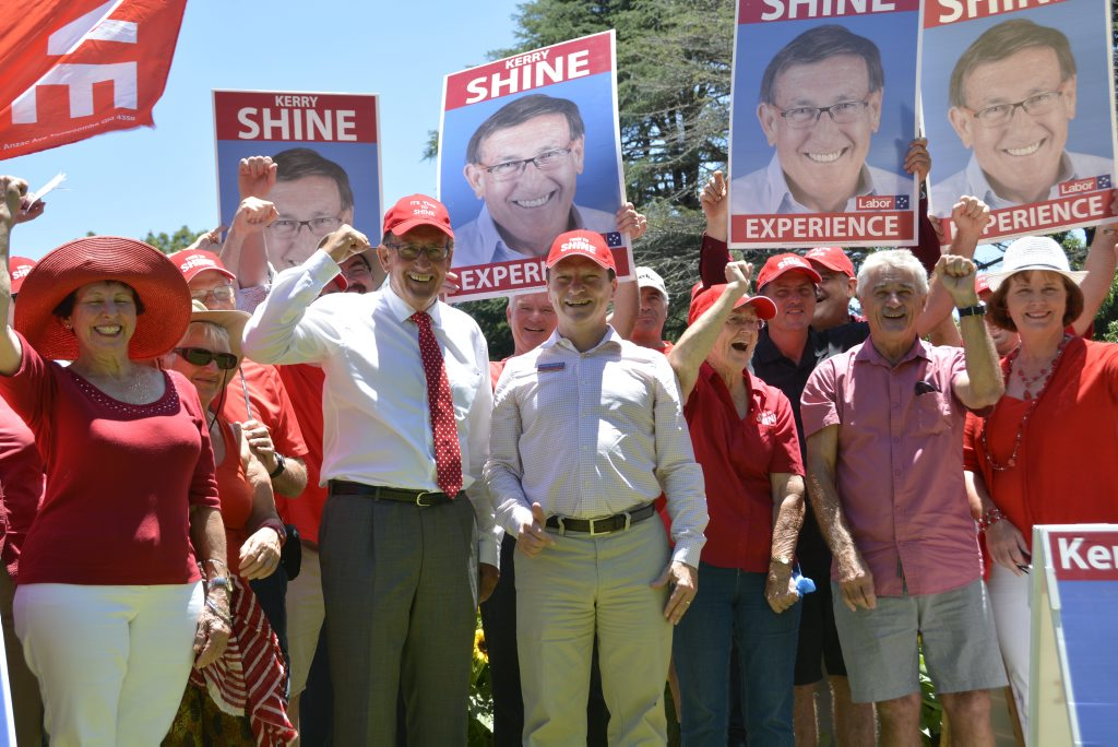 Toowoomba North Labor candidate Kerry Shine kicks off his election campaign saying
