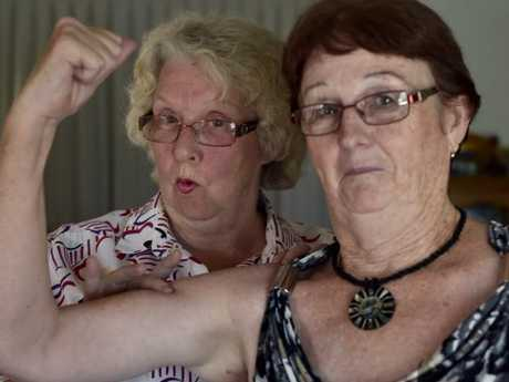 Tuck shop ladies, Rosemary Jefferies (left) and Pattie McCaul respond to comments made by AMAQ President, Shaun Rudd. Photo Bev Lacey / The Chronicle