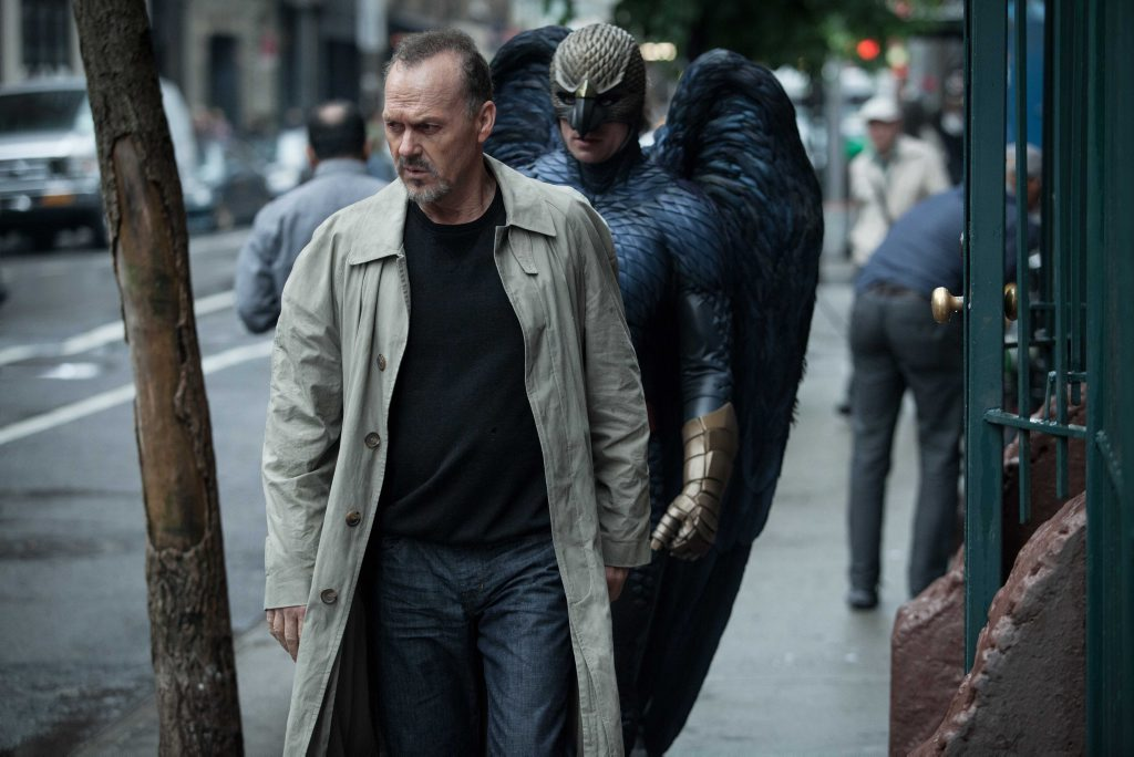 Michael Keaton in a scene from the movie Birdman.