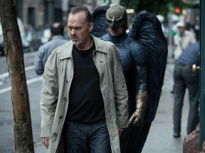 Michael Keaton in a scene from the movie Birdman.