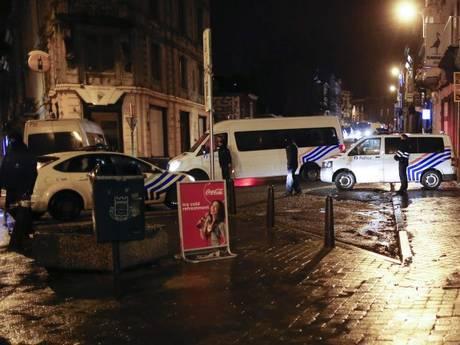 Police block a street in Vervier, eastern Belgium, following an anti terror operation.