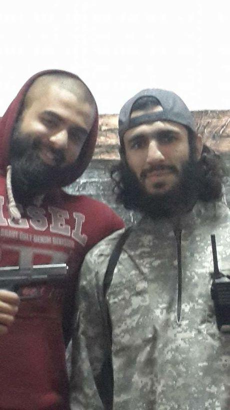 Suhan Rahman, left with Australian extremist Mohamed Elomar