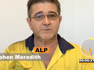 Stephen Meredith faces the Pollie Ticker