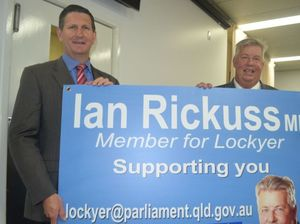 Ian Rickuss welcomes Lawrence Springborg as LNP party leader