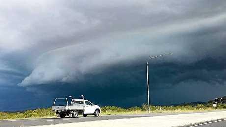 DARKNESS: Clouds around Gladstone.