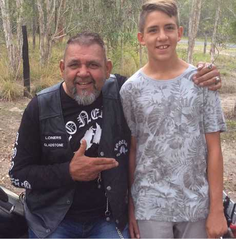 "VALE: Graeme ""Marbo"" Walker, here with his son Tyson, will be remembered as a character who looked after everyone."