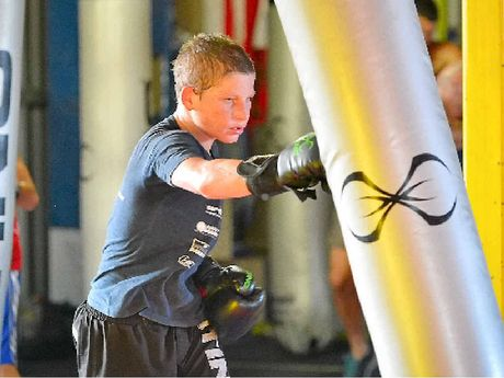 Nick Dangerfield training at Mick Daly's gym.