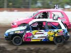 Abi Meehan competing in the junior event at the Rockhampton Speedway on Saturday evening. Photo: Chris Ison / The Morning Bulletin