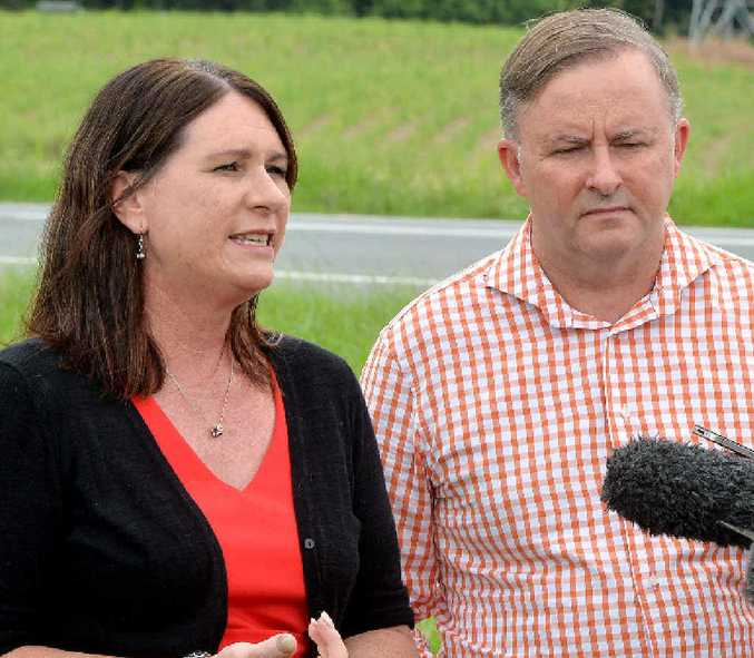 Labor's Federal Opposition spokesman for infrastructure and transport Anthony Albanese and ALP candidate for Whitsunday Bronwyn Taha, in Mackay yesterday, want the Bruce Hwy fixed.